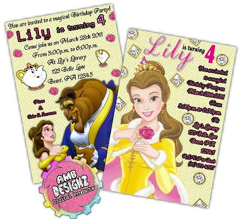 Disney's Beauty and the Beast Invitations