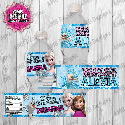 Disney's Frozen Water Bottle Wrap Party Supplies