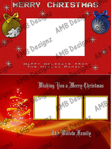 Printable Custom Photo Christmas Card