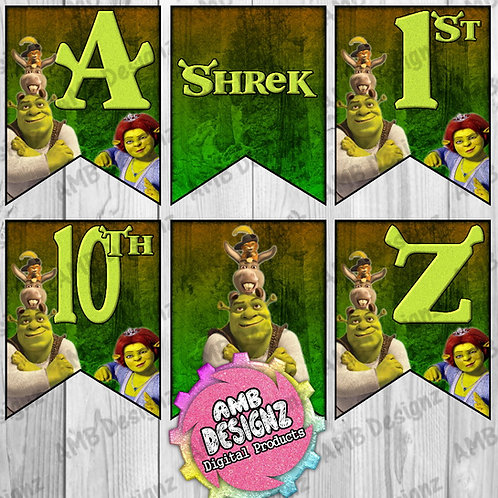 Shrek Party Banner Party Supplies