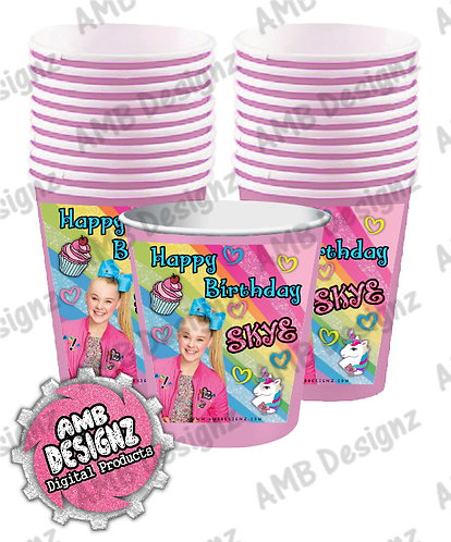 Jojo Siwa Party Cups Party Supplies