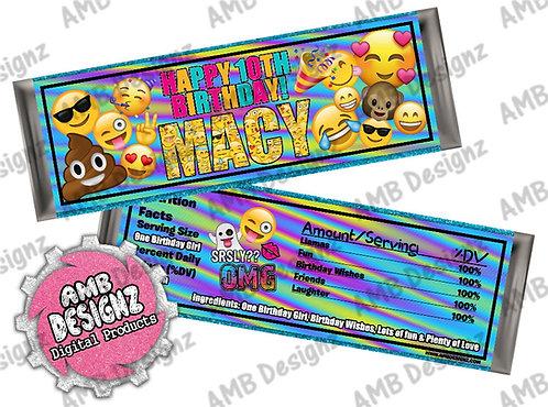Emoji Candy bar wrapper - Emoji Party Supplies