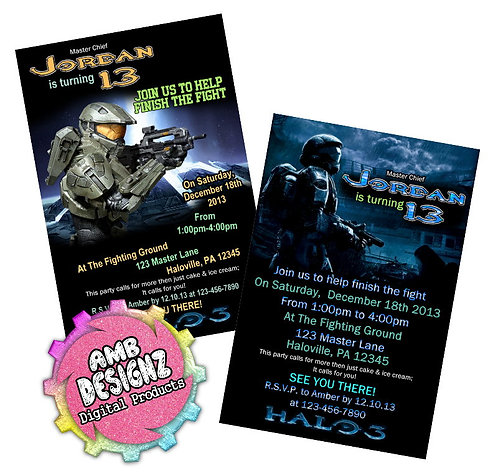 HALO Invitations Party Supplies