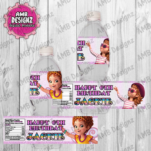 Fancy Nancy Water Bottle Wrap Party Supplies