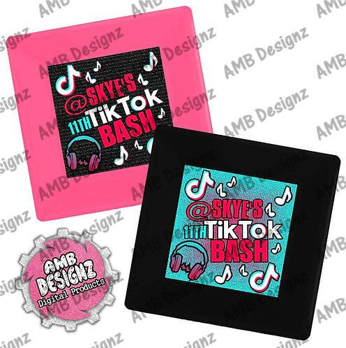Tik Tok Party Plates - Tik Tok Party Supplies