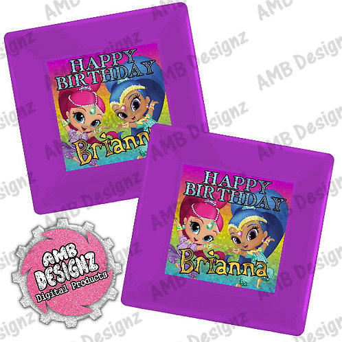 Shimmer and Shine Party Plates Party Supplies