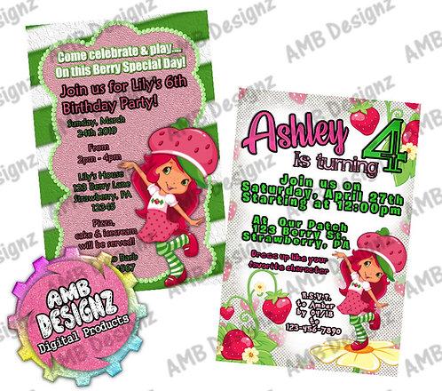 Strawberry Shortcake Invitations - Strawberry Shortcake Party Supplies