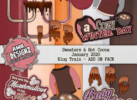 Pixel Scrapper - January Blog Train - Sweaters & Hot Cocoa