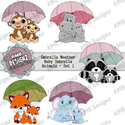 Baby Umbrella Animals Pack - Baby Animal Elements