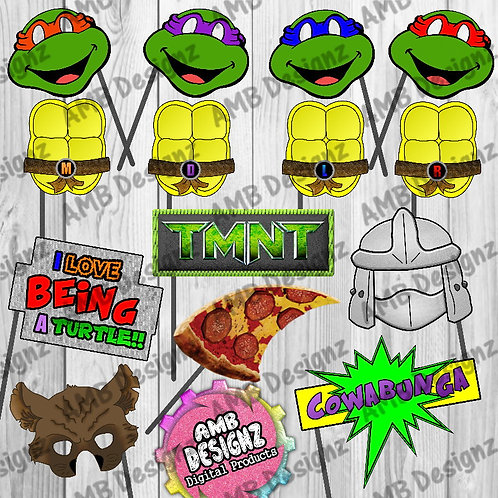TMNT Photo Booth Props Party Decorations TMNT Masks