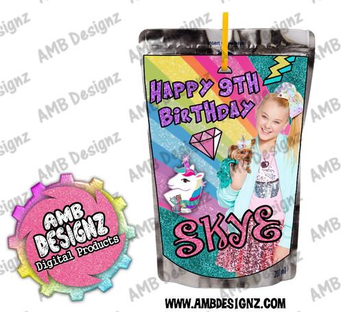 4a6217ccfb Jojo Siwa Juice Pouch Labels - Jojo Siwa Party Supplies