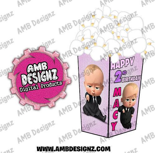 Boss Baby Popcorn Boxes - Boss Baby Party Supplies