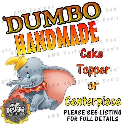 Dumbo Cake Topper Centerpiece