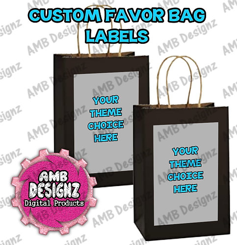 Custom Favor Bag Label Party Supplies