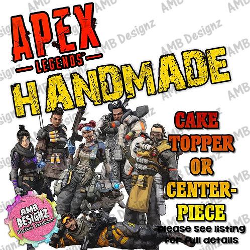 Apex Legends Cake Topper Centerpiece - Apex Legends Party Supplies