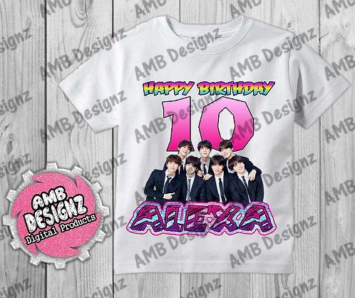 BTS T-Shirt Birthday Image - BTS Party Supplies