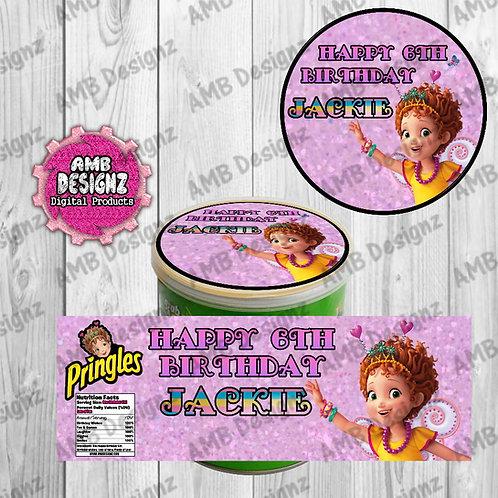 Fancy Nancy Pringles Can Labels - Fancy Nancy Party Supplies