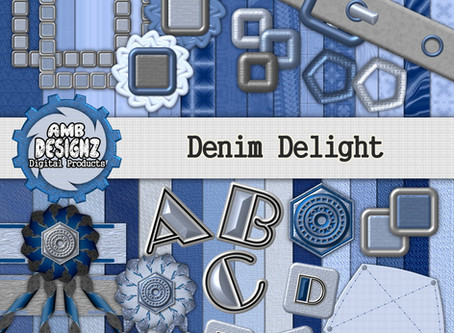 Jeans - Jeans - Jeans - Denim Delight Digital Scrapbooking Kit