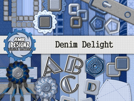 Jeans - Jeans - Jeans - Denim Delight Digital Scrapbooking Kit