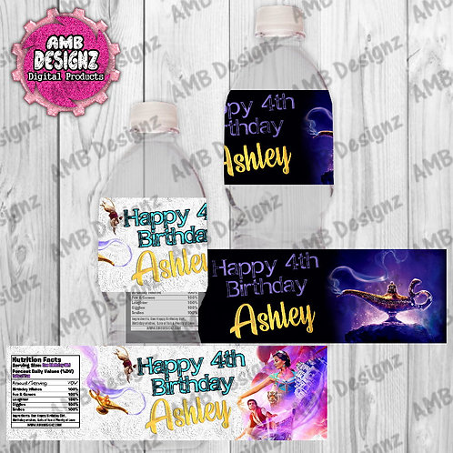 Aladdin Water Bottle Wrap - Aladdin Party Supplies