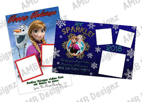 Disney's Frozen Christmas Printable Custom Photo Christmas Card
