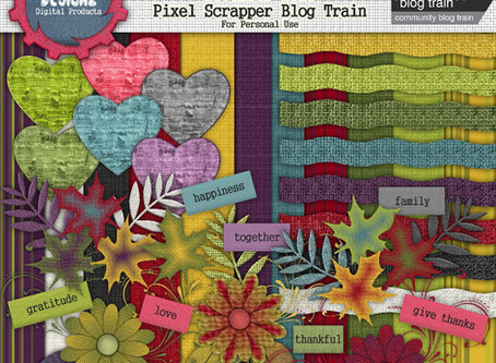 Pixel Scrapper - November 2018 Blog Train - Family Traditions