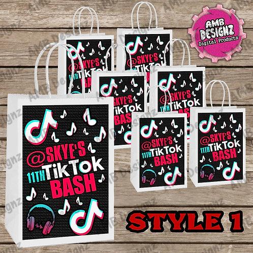 Tik Tok Favor Bag Label Party Supplies - Tik Tok Party Supplies