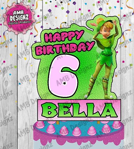 Tinkerbell Fairies Cake Topper Centerpiece -  Tinkerbell Fairies Party Supplies