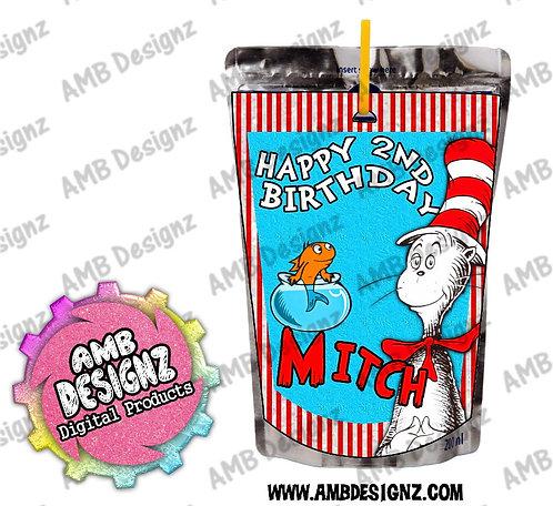 Dr. Seuss The Cat in the Hat Capri-Sun Juice Pouch Label