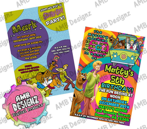 Scooby Doo Invitations - Scooby Doo Party Supplies