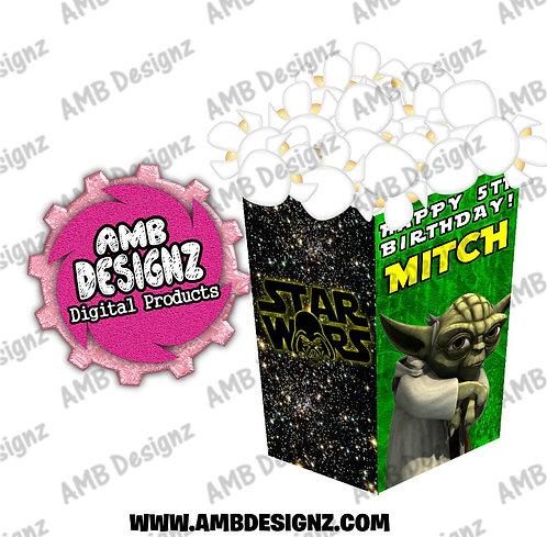 Star Wars Popcorn Box Favor - Star Wars Party Supplies
