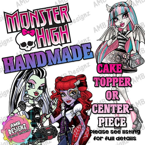 Monster High Cake Topper Centerpiece
