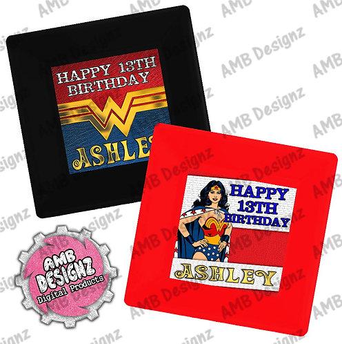 Wonder Women Party Plates - Wonder Women Party Supplies