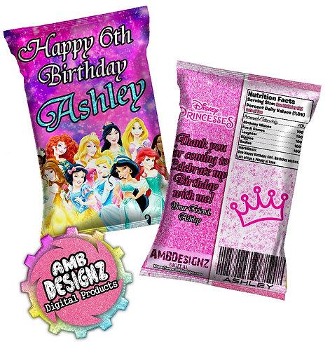 Disney Princesses Chip Bag Party Favor