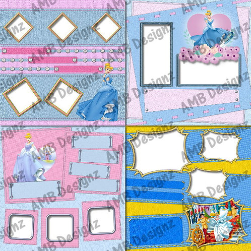 Disney's Cinderella Digital Scrapbooking Premade Album/Pages