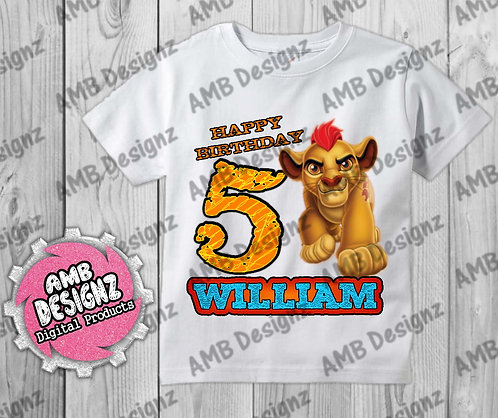 Lion Guard T-Shirt Birthday Image - Lion Guard - Lion King Party Supplies
