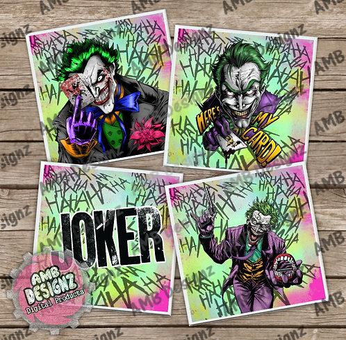 The Joker Themed Tile Coaster Set