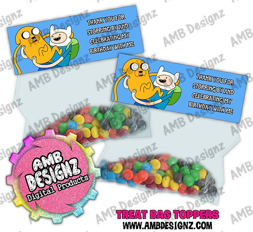 Adventure Time Treat Bag Topper - Adventure Time Party Supplies