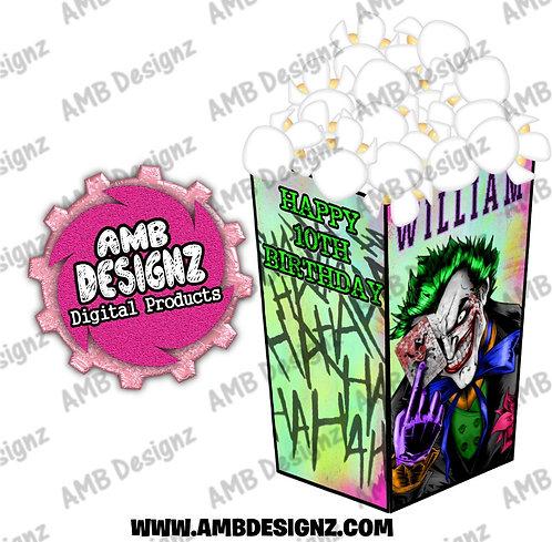 Joker Popcorn Box Favor - Joker Party Supplies
