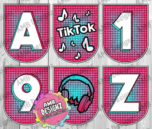 Tik Tok Party Banner -  Tik Tok Party Supplies