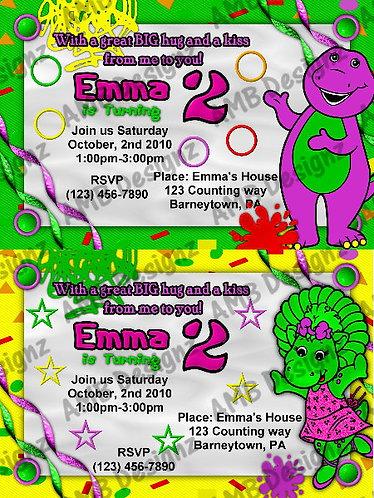 Barney Custom Digital Invitation