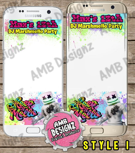 DJ Marshmello Snapchat Filter - DJ Marshmello Party Supplies