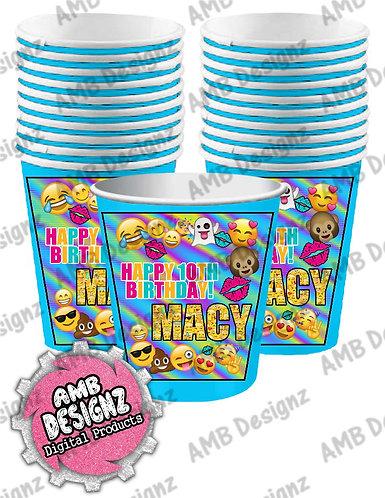 Emoji Party Cups - Emoji Party Supplies