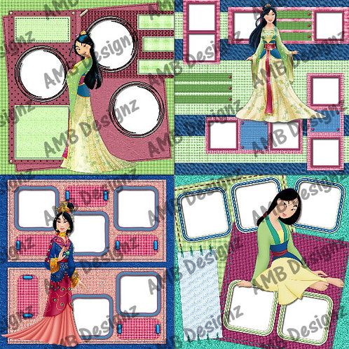 Disney's Princess Mulan Digital Scrapbooking Premade Albu
