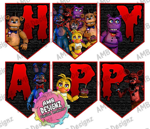 Five Nights at Freddy's (FNAF) Party Banner -  FNAF Party Supplies