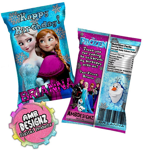 Disney's Frozen Chip Bag Party Favors