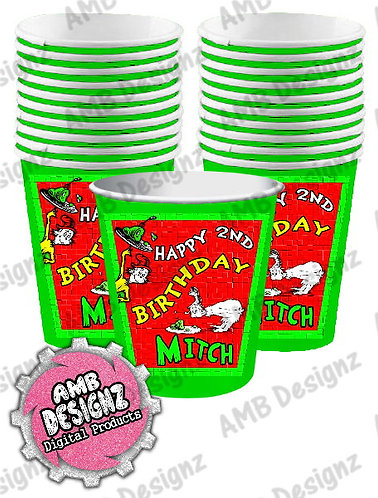 Dr. Seuss Green Eggs and Ham Cups Party Supplies