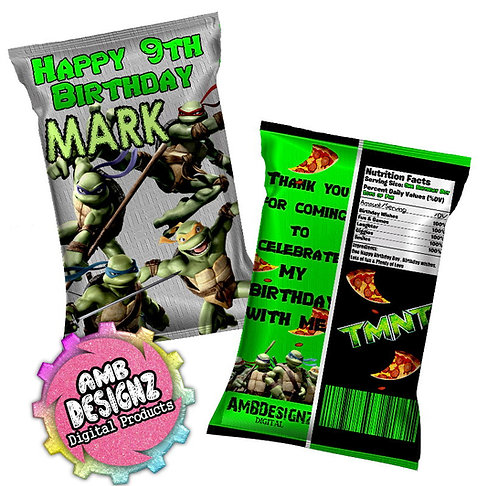 TMNT Chip Bag Party Favor Party Supplies