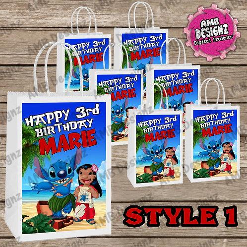 Lilo & Stitch Favor Bag Label Party Supplies - Lilo & Stitch Party Supplies