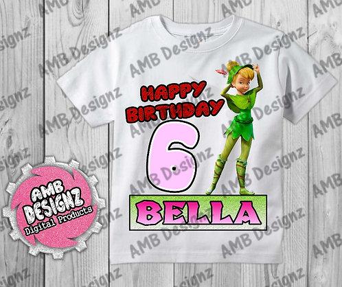 Tinkerbell Fairies T-Shirt Birthday Image - Tinkerbell Fairies Party Supplies